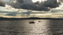 Sunset on Lake Champlain in Burlington Vermont Stock Video Stock Footage