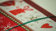 Stock Video Footage of decorative christmas gift wrapping