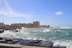 alexandria waterfront - stock photo