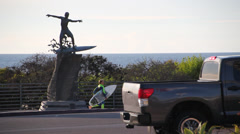 Cardiff Kook view from roadside Stock Footage