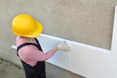styrofoam insulation - stock photo