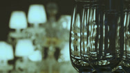 Stock Video Footage of Crystal lamp and glasses