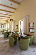mediterranean interior - waiting room - stock photo