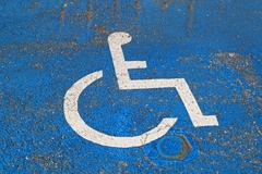handicapped sign - stock photo