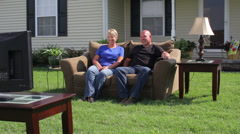 Front Yard Living Room Stock Footage