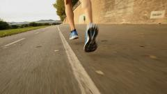 Feet of a runner Stock Footage