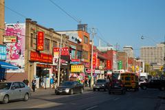 Stock Photo of chinatown, toronto