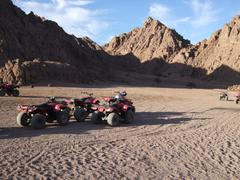 Quads in the Egyptian Desert Stock Photos