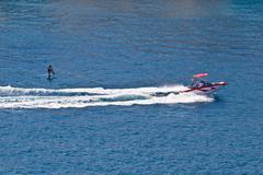 sit down hydrofoil ski sport - stock photo