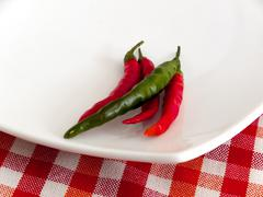 cayenne pepper (capsicum annuum linn.) - stock photo