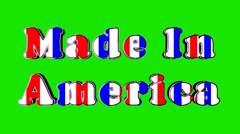 Made in America Green Screen - stock footage