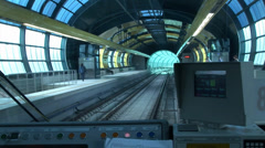 Railcar in the subway Stock Footage