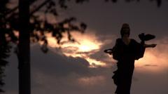 Sveta sofia,statue - stock footage