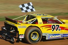 new zealand super stock car race - stock photo