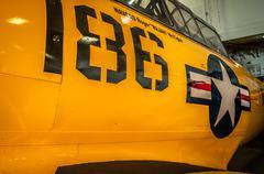 plane 186 uss midway museum - stock photo