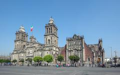 Metropolitan cathedral of the assumption of mary of mexico city. Stock Photos