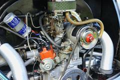 Volkswagen Beetle 1303cc Engine Stock Photos