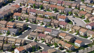 Stock Video Footage of Aerial shot of housing development