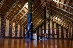 Maori meeting house - marae Stock Photos