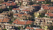 Stock Video Footage of Aerial shot of Southern California homes