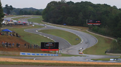 "Racing Road Atlanta ""The Esses"" ALMS Stock Footage"