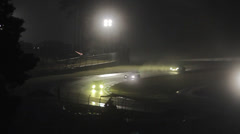 Time Lapse Night Racing - stock footage