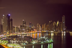 Timelapse Panama City Skyline (raw) - stock footage