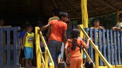 Children in Amazon Rain Forrest - stock footage