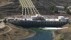 California, USA - March 22, 2012: Aerial shot of hydro dam Stock Footage