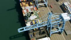 Long Beach, California, USA - March 22, 2012: Aerial shot of the Long Beach Stock Footage