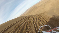 Sand Dunes Little Sahara Utah ride to friend HD 0026 - stock footage