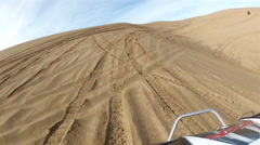 Sand Dunes Little Sahara Utah motorcycle bowl riding HD 0026 Stock Footage