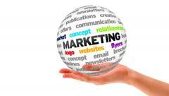 Marketing Word Sphere Stock Footage