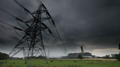 Power station in Edinburgh time lapse on tilt shift lens. - stock footage
