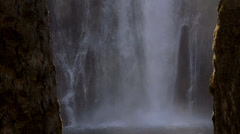 Falls Between the Trees Stock Footage