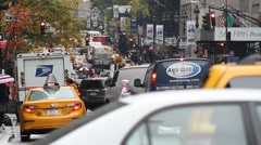 5th Avenue, New York, cars, traffic, cabs Stock Footage