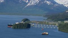 Valdez oil terminal, Alaska Stock Footage