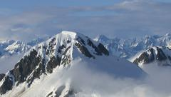 Alaska mountains and clouds, aerial shot - stock footage