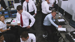 Financial business team of Stockbrokers trading. Could be large bank corporation Stock Footage