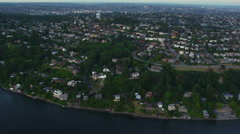 Aerial shot of Seattle area Stock Footage