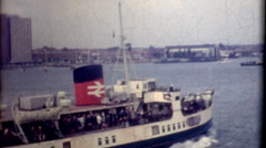 ship boat tour United Kingdom 1950s vintage film historic traveling travel - stock footage