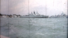 Her Majesty's Naval Base (HMNB) Portsmouth warships battleship Stock Footage
