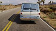 Stock Video Footage of Van on highway. California desert.