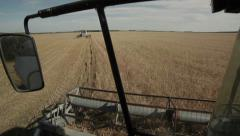 Harvester harvests from the field Stock Footage