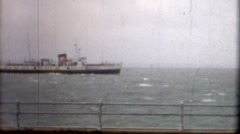 Ship off the coast of Her Majesty's Naval Base (HMNB) Portsmouth Stock Footage