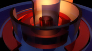 Stock Video Footage of cylinder glossy spinning with alpha