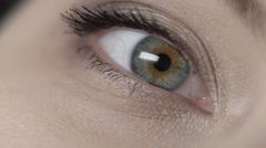 Female beautiful eyes close up Stock Footage