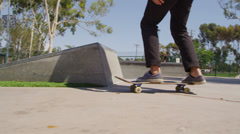 Young people skateboarding - stock footage