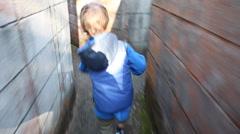 Boy in Maze Stock Footage