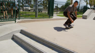 Stock Video Footage of Young people skateboarding